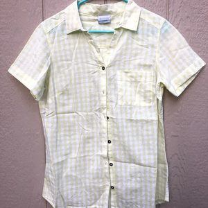 Columbia plaid shirt size medium